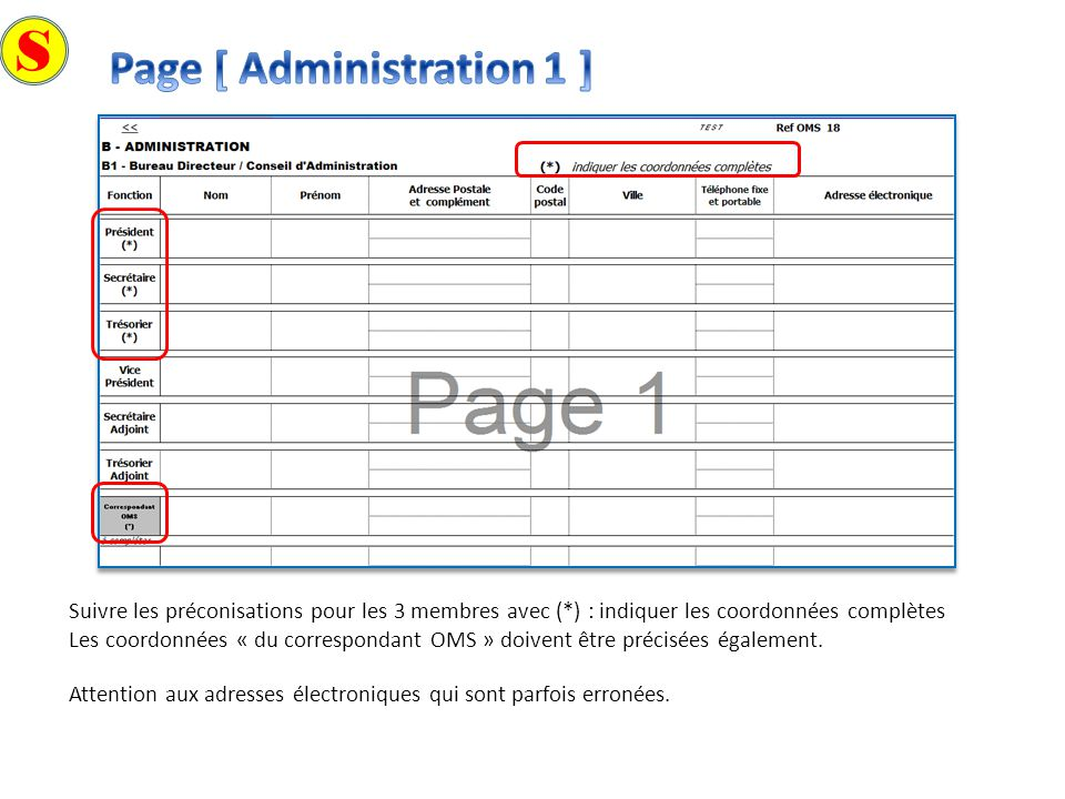 S Page [ Administration 1 ]